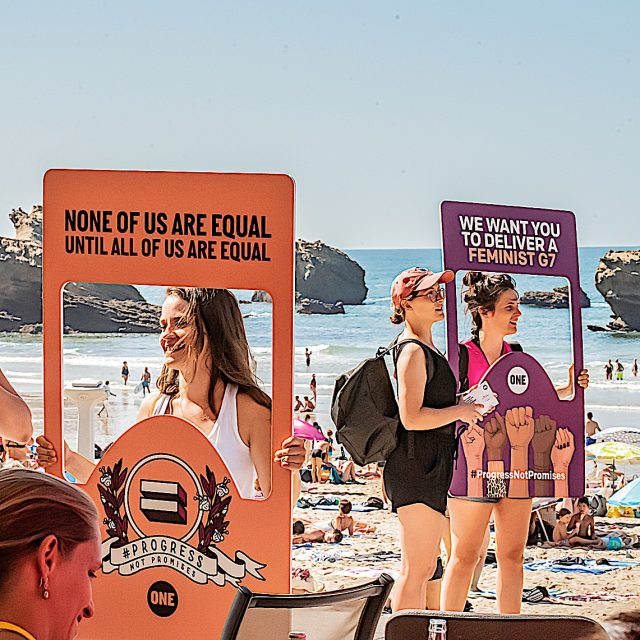 We made one last call for progress not promises at Biarritz