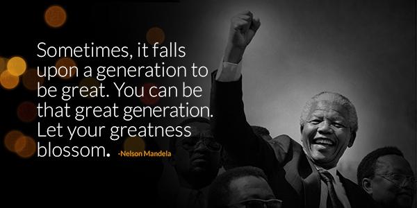 Share Nelson Mandela's words