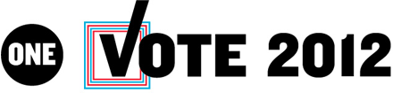 ONE Vote 2012 logo