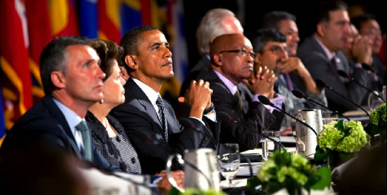 World Leaders, including Rakesh Rajani, at the launch of the Open Government Partnership in 2011