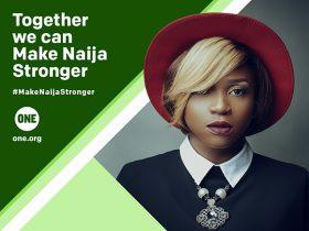 Waje, Nigerian singer, speaks on the #MakeNaijaStronger Campaign