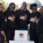 10 Million Meals for Mandela Day at Sibaya Casino in Durban. Arielle T; Selmor Mtukudzi; Mwambu Wanendeya; Waje; Judith Sephuma. Picture: JAMES OATWAY/ONE.ORG