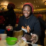 Judith Sephuma helps prepare meals as part of 10 Million Meals for Mandela Day at Sibaya Casino in Durban. Picture: JAMES OATWAY/ONE