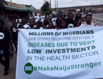 ONE Nigeria members walk for better health systems on International Youth Day
