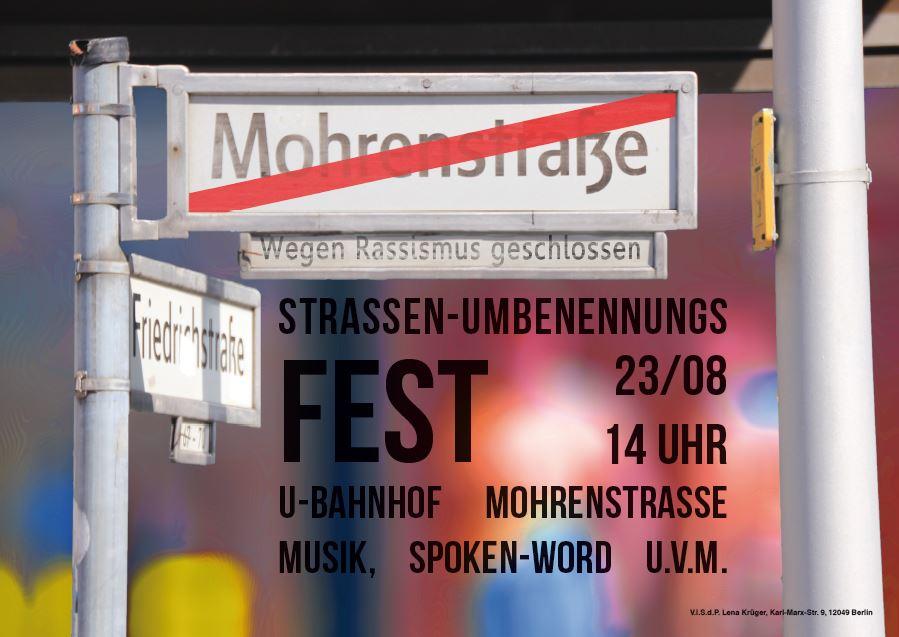 """Fest zur Umbenennung der """"Mohrenstraße"""""""
