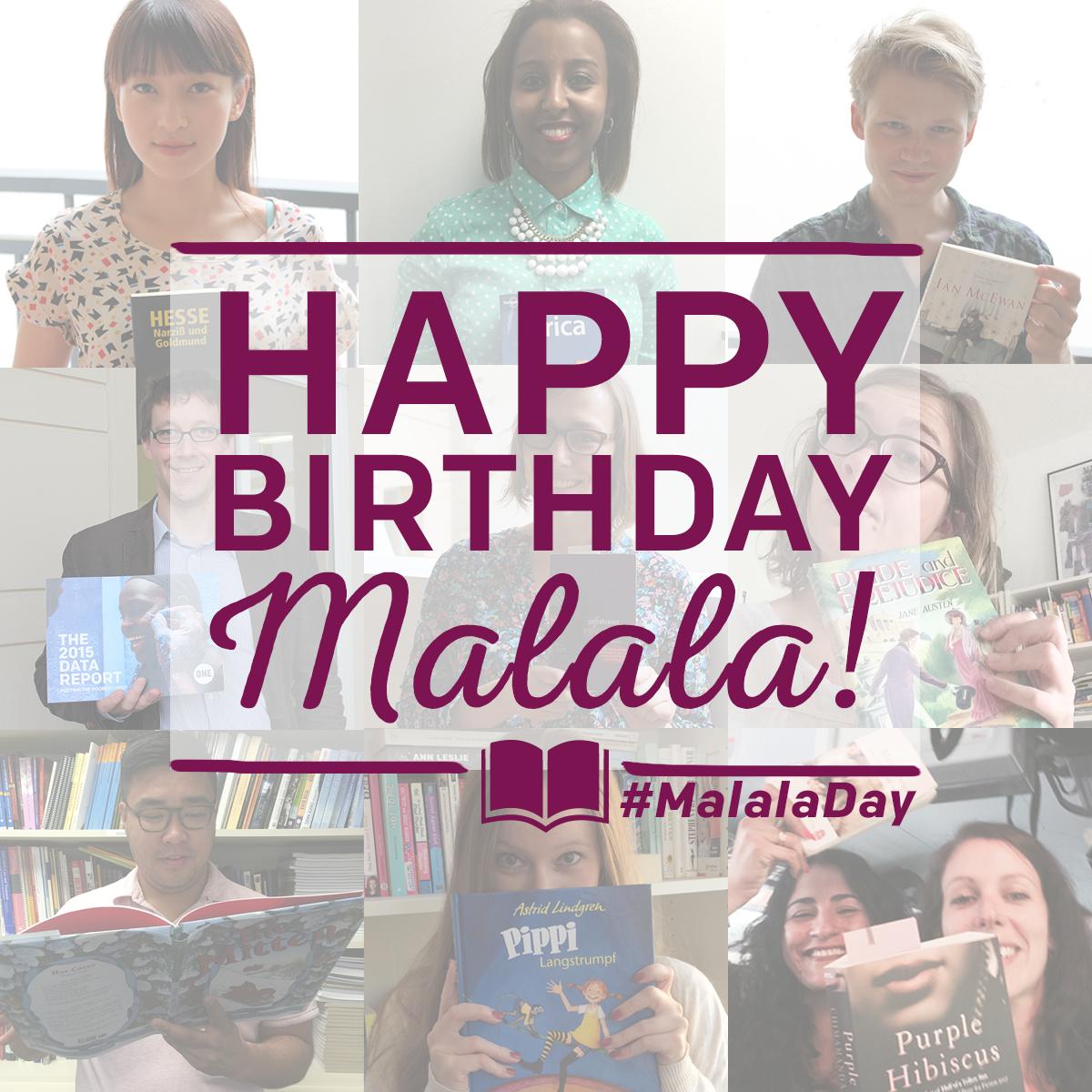 Bücher statt Kugeln: Ein Geburtstagswunsch von Malala