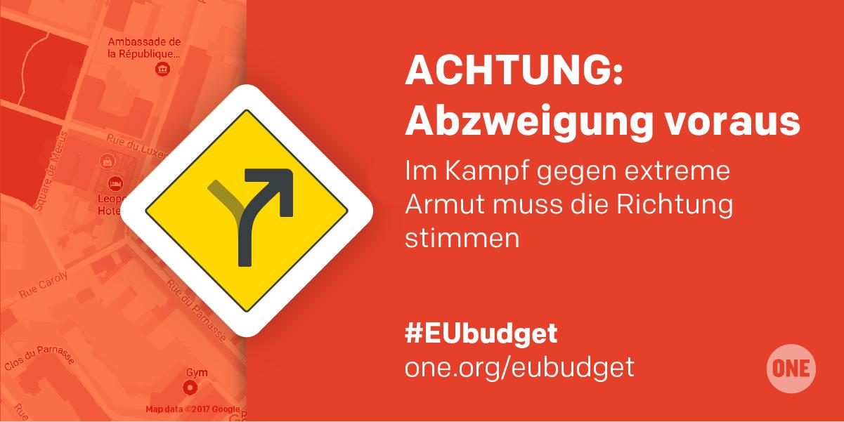 Eine Grafik über die Richtungen und Wege bzgl. des EU-Budgets