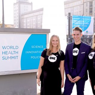 ONE Action beim 10. World Health Summit in Berlin!