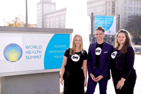 ONE Action beim 10. World Health Summit in Berlin!