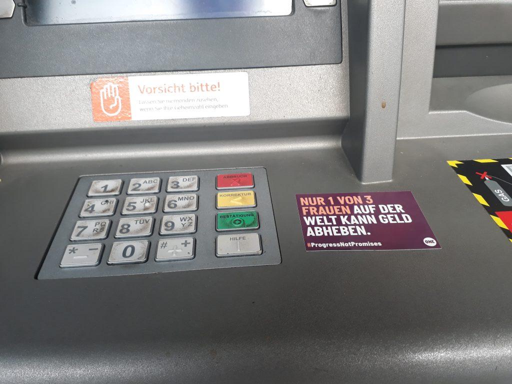 Bankautomat Sticker