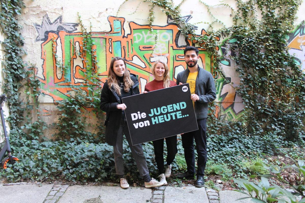 Morgens um 8 in Berlin: 3 Weltverbesserer*innen zu Besuch bei ONE in Deutschland