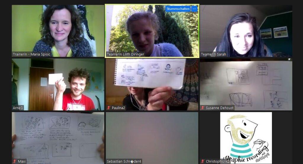 Lilith's Team beim digitalen Festival der Taten