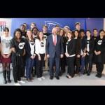 Martin Schulz, Président du Parlement européen avec les jeunes Ambassadeurs belges