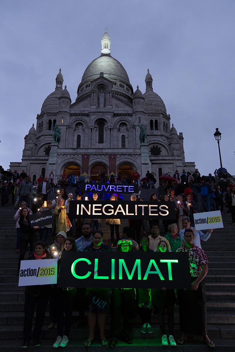 Mobilisation #LightTheWay à Paris