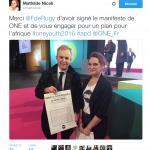 François De Rugy a signé le manifeste de ONE le 3 décembre 2016