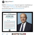 Alain Juppé a été le 2ème candidat des Républicains a signer le manifeste, le 17 novembre 2016