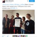 Vincent Peillon a signé le manifeste de ONE, le 14 janvier 2017