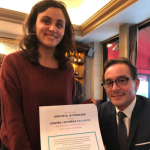 Le député MoDem Laurent Garcia et notre jeune Ambassadrice Vanessa