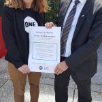 Le député REM Denis Masseglia avec notre jeune Ambassadrice Marie