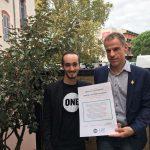 Le député REM Sébastien Nadot et notre jeune Ambassadeur Florian