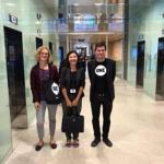 La députée REM Delphine O, entourée de notre responsable médias Annabel et de notre jeune Ambassadeur Arnaud