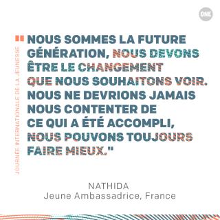 Journée internationale de la jeunesse : ONE donne la parole aux jeunes !
