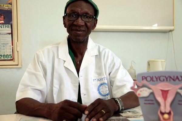 Professor Akotiomga Michel at Suka Clinic in Burkina Faso. Photo: Jessica Lea/DFID