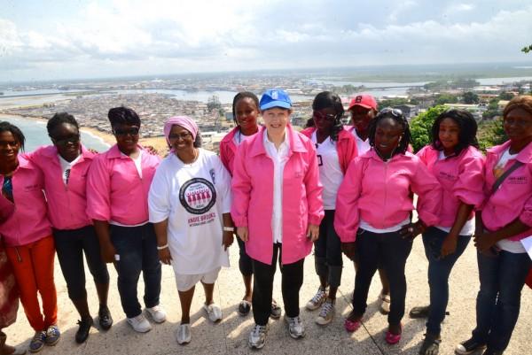 The Pink Panther crew! Photo Credit: UN News