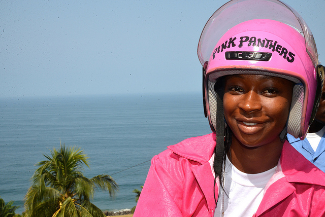Meet the Pink Panthers: Liberia's first female fleet of motorcycle taxi drivers