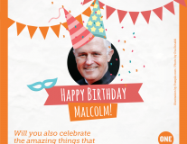 Send Australian Prime Minister Malcolm Turnbull a birthday card