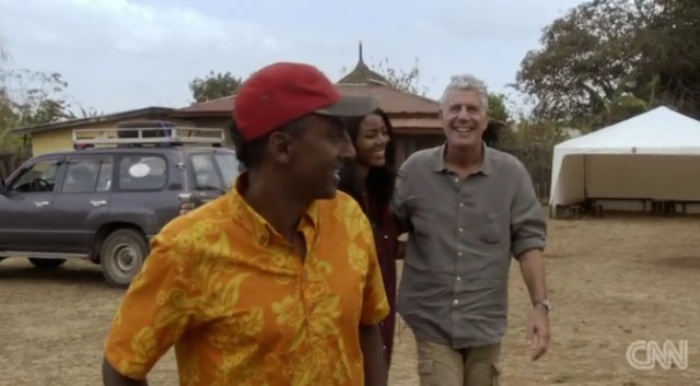 CNN's Anthony Bourdain gets a warm welcome in Ethiopia
