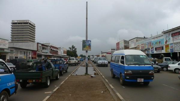 Street in Lusaka, Zambia Copyright: Wikimedia.com