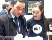 Hustling the ONE Vote pledge at the hustings ahead of Ireland's general election!
