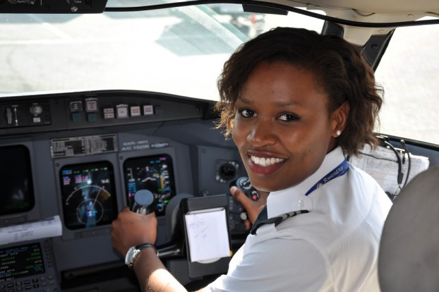 Meet Esther, the first female commercial pilot in Rwanda