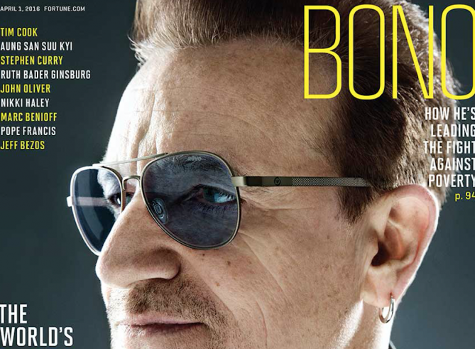 Why we love 'Fortune' magazine's profile on ONE cofounder Bono