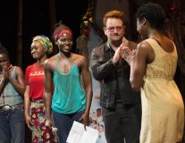 VIDEO: Bono joins Lupita Nyong'o and cast of Broadway's 'Eclipsed' to launch play dedication series in support of #BringBackOurGirls