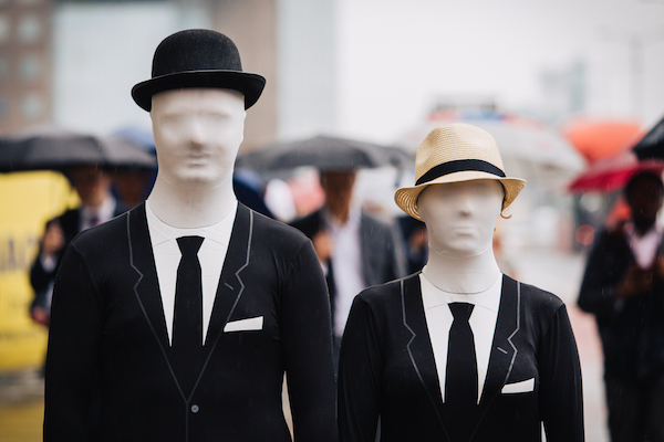 NAME THAT FACE . . . Dressed in mock business suits, bowler and Panama hats, activists dressed as faceless financiers from the pressure group the ONE Campaign mingled with commuters on London's busy streets yesterday to draw attention to the International Anti-Corruption Summit being hosted by UK Prime Minister David Cameron later this week (THURS). The International Anti-Corruption Summit takes place on Thursday May 12, 2016 in London. For more information about the photos, summit and interviews with ONE's expert analysts, call the ONE UK Media Team on 07901 006 799 or 07881 370 441 Or email peter.simpson@one.org; chris.mitchell@one.org