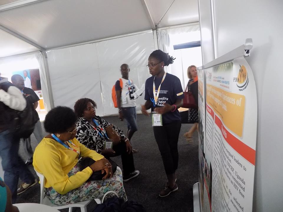 Robinah at the ICASA Zimbababwe conference.
