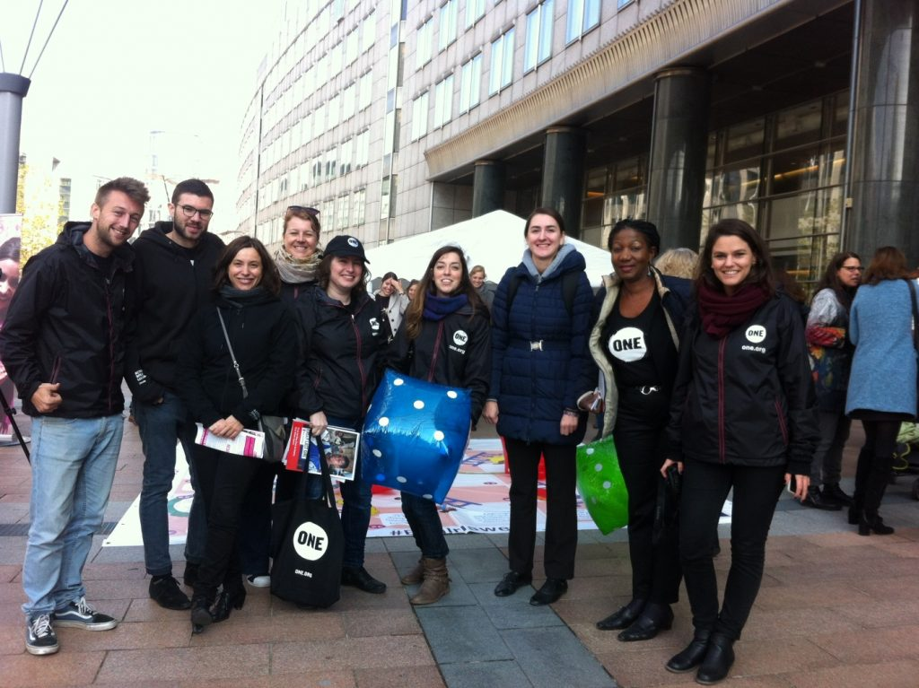 ONE Youth Ambassadors and staff at the European Week of Action for Girls launch event.