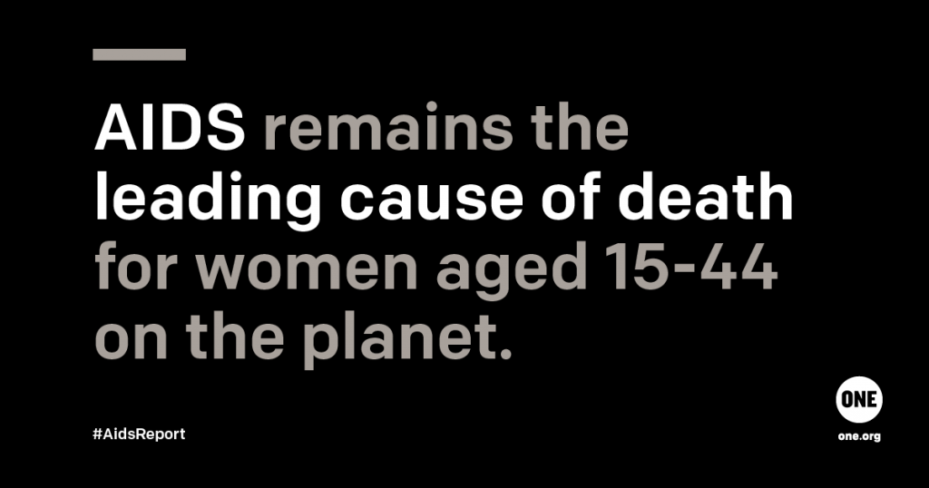 AIDS remains the leading cause of death for women aged 15-44 on the planet