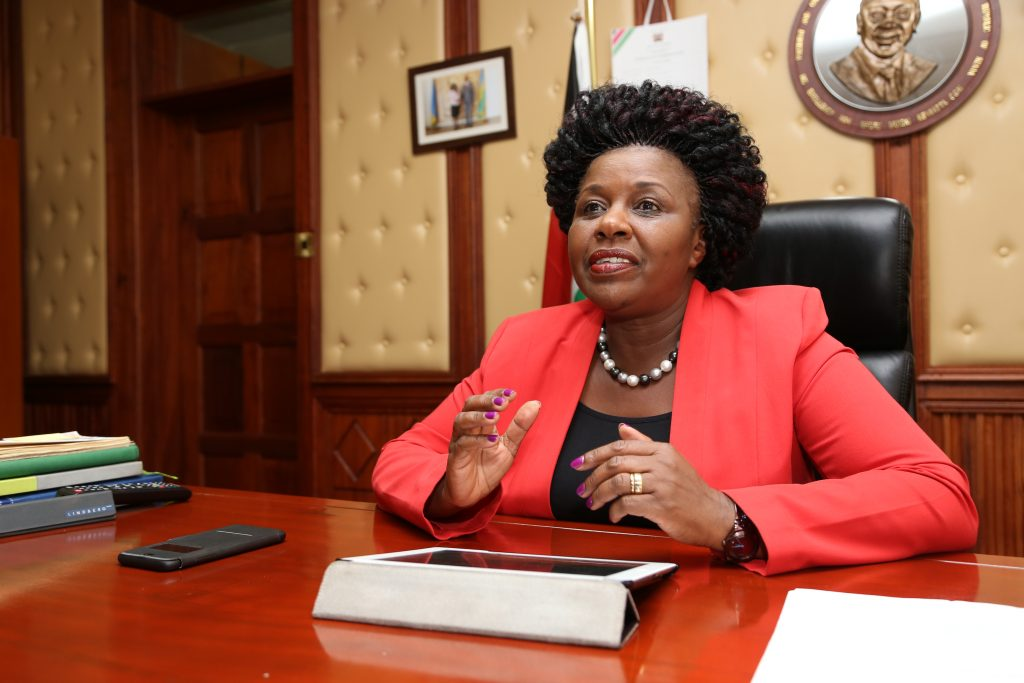 Joyce Laboso - deputy parliamentary speaker and governor nominee for Bomet Jubilee