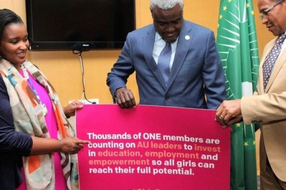 African Union Chairperson supports ONE's call for investment in girls' education