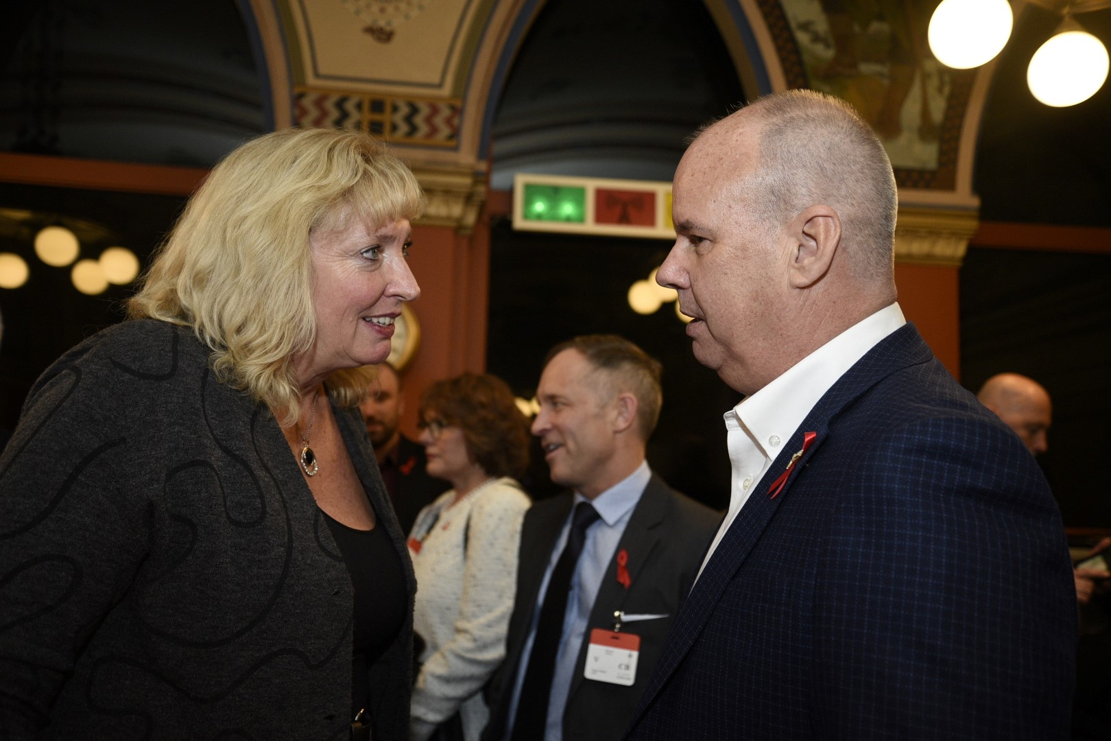 Ms. Marilyn Gladu, Conservative Health Critic, and Mr. Gary LaCasse, Executive Director of the Canadian AIDS Society.
