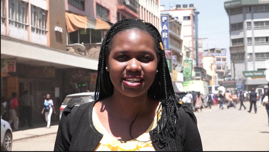 Dorcas Wangira in Mfangano Street, Nairobi