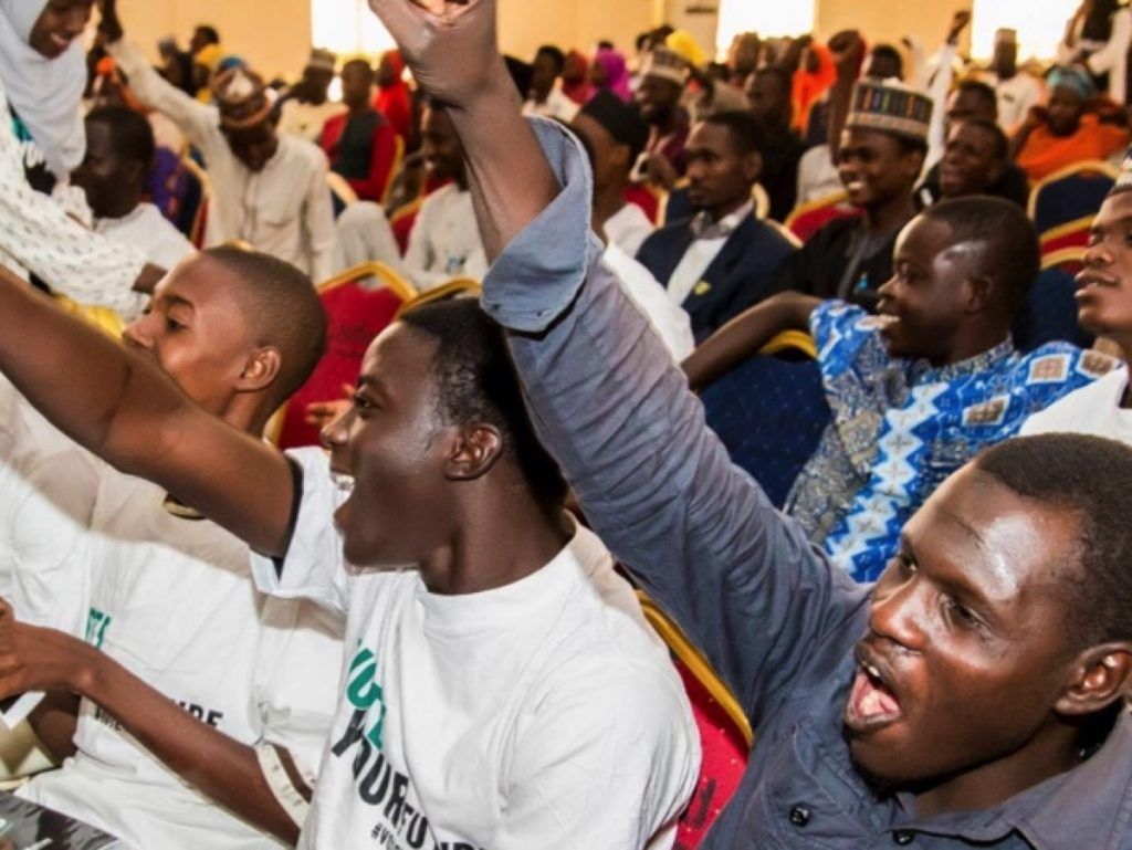 #VoteYourFuture went on the road across Nigeria in February 2019. Tens of thousands of young people made their voices heard.