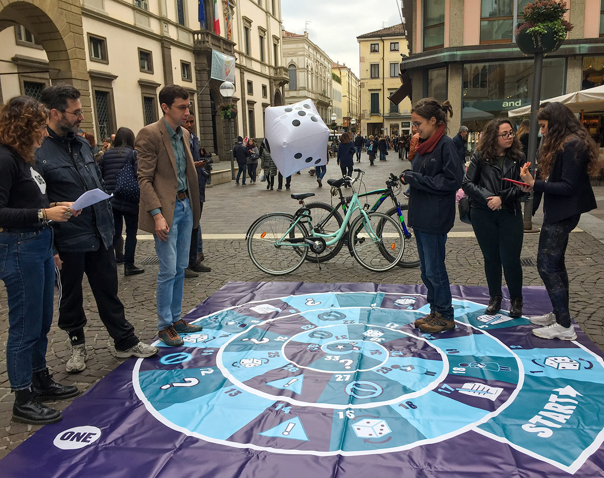 ONE Campaigners play street game