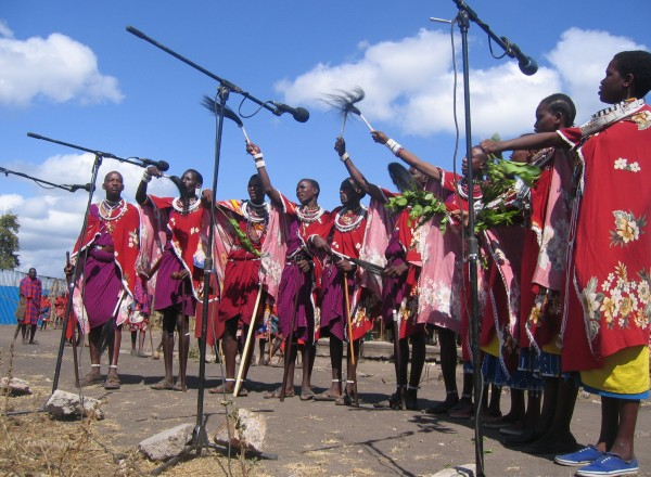 S.A.F.E.'s Maasai team, SAE Maa, perform to educate their community about HIV and AIDS