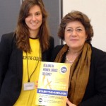 ONE Brussels director Eloise Todd hands over our now 52,177 (and counting!) strong petition to Ana Gomes MEP. Photo: ONE