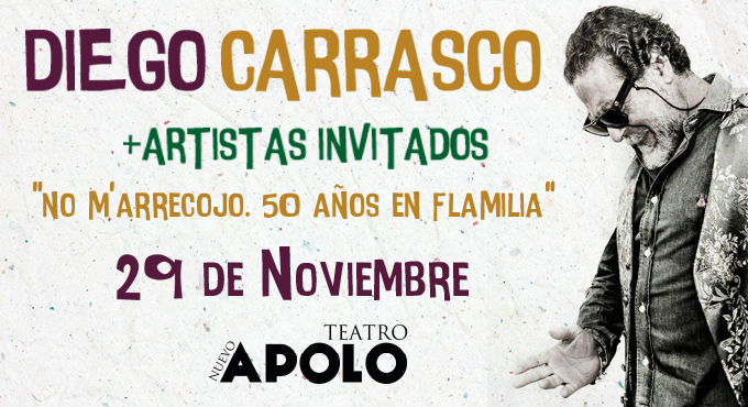 Entradas para Concierto de Diego Carrasco en Madrid (Teatro Nuevo Apolo)