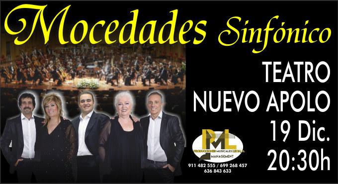 Entradas para Concierto de Mocedades - Sinfónico en Madrid (Teatro Nuevo Apolo)